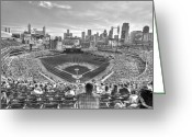 New York New York Com Greeting Cards - Comerica Park Greeting Card by Nicholas  Grunas