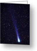 Long Period Comet Greeting Cards - Comet Hyakutake Greeting Card by Jerry Schad and Photo Researchers