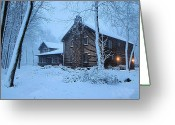 Winter Storm Digital Art Greeting Cards - Comfort from the Cold Greeting Card by Kristin Elmquist