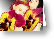  Digital Collage Greeting Cards - Comfort Greeting Card by Torie Tiffany