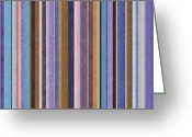 Stripe.paint Greeting Cards - Comfortable Stripes ll Greeting Card by Michelle Calkins