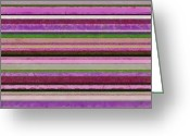 Stripe.paint Greeting Cards - Comfortable Stripes lll Greeting Card by Michelle Calkins