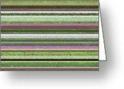 Stripe.paint Greeting Cards - Comfortable Stripes lV Greeting Card by Michelle Calkins