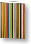 Stripe.paint Greeting Cards - Comfortable Stripes Greeting Card by Michelle Calkins