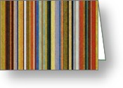 Stripe.paint Greeting Cards - Comfortable Stripes V Greeting Card by Michelle Calkins