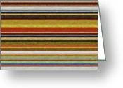 Stripe.paint Greeting Cards - Comfortable Stripes Vl Greeting Card by Michelle Calkins