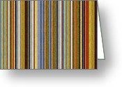 Stripe.paint Greeting Cards - Comfortable Stripes Vlll Greeting Card by Michelle Calkins