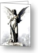 Religious Artist Digital Art Greeting Cards - Comforting Angel Greeting Card by Dale   Ford