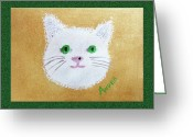 Fine Art Cat Greeting Cards - Comic Kitty Greeting Card by Andee Photography