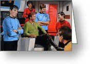 Trek Greeting Cards - Comic Relief Greeting Card by Kim Lockman