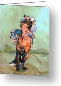 Bronc Greeting Cards - Comin Atcha Greeting Card by Kae Cheatham
