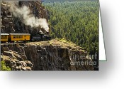 Locomotive Greeting Cards - Coming Around the Bend Greeting Card by Scott Pellegrin