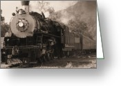 Locomotives Greeting Cards - Coming Around The Mountain Greeting Card by Richard Rizzo