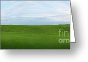 Golf Green Greeting Cards - Coming Home at Brora Greeting Card by Jan Faul