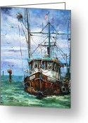 Fishing Boat Greeting Cards - Coming Home Greeting Card by Dianne Parks