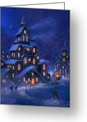 Blizzard Greeting Cards - Coming Home Greeting Card by Philip Straub