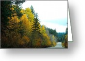 Turning Leaves Greeting Cards - Coming of Fall Greeting Card by Wanda Jesfield