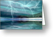 Hit Digital Art Greeting Cards - Coming Storm Greeting Card by Corey Ford