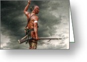 Native Digital Art Greeting Cards - Coming Storm Greeting Card by Randy Steele