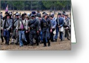 Confederates Greeting Cards - Commanding the troops Greeting Card by David Lee Thompson