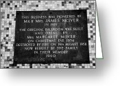 Commemorative Greeting Cards - Commemorative Plaque On The Wall Of The Barrowland Ballroom In The East End Of Glasgow Scotland Uk Greeting Card by Joe Fox