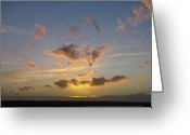 Commencement Bay Greeting Cards - Commencement Bay Sunset Greeting Card by Sean Griffin
