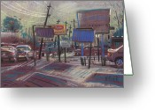 Urban Pastels Greeting Cards - Commercial Industrial Greeting Card by Donald Maier