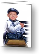 Little Boy Greeting Cards - Commissioned - Handsome Baby Boy 1a Greeting Card by Reggie Duffie