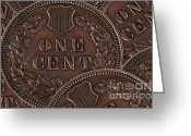 Cent Greeting Cards - Common Cents Greeting Card by Dan Holm