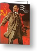 Cyrillic Greeting Cards - Communist Poster, 1967 Greeting Card by Granger