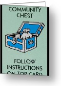 Monopoly Digital Art Greeting Cards - Community Chest Greeting Card by Rob Hans