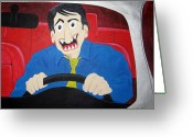 Traffic Reliefs Greeting Cards - Commuter Greeting Card by Sal Marino