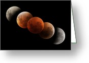 Lunar Eclipse Greeting Cards - Composite Image Of Lunar Eclipse Greeting Card by Philip Hart