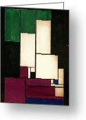 Van Painting Greeting Cards - Composition Greeting Card by Theo van Doesburg