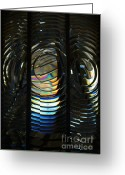 Point Loma Greeting Cards - Concentric Glass Prisms Greeting Card by Linda Knorr Shafer