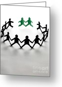Racial Greeting Cards - Conceptual Situation Greeting Card by Photo Researchers, Inc.