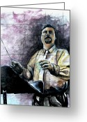 Music Teacher Greeting Cards - Concert Time Greeting Card by Molly Markow
