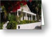 Florida House Greeting Cards - Conch House in Key West Greeting Card by Susanne Van Hulst