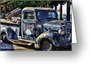 Old Trucks  Greeting Cards - Conch Truck Greeting Card by Joetta West