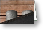 Building Detail Greeting Cards - Concrete and clay Greeting Card by Jan Pudney