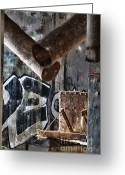 Exploration Digital Art Greeting Cards - Concrete Central 8 Greeting Card by Chuck Alaimo