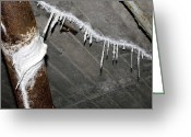 Crack Pipe Greeting Cards - Concrete Damage Greeting Card by Dirk Wiersma