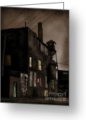Abandoned Buildings Greeting Cards - Condemned Greeting Card by Colleen Kammerer