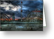 Parking Lot Greeting Cards - Coney Island Greeting Card by Bryan Hochman