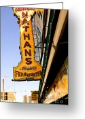 Nathans Greeting Cards - Coney Island Memories 1 Greeting Card by Madeline Ellis