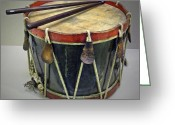 Drum Sticks Greeting Cards - Confederate Drum Greeting Card by Dave Mills