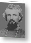 Rebel Greeting Cards - Confederate General Nathan Forrest Greeting Card by War Is Hell Store