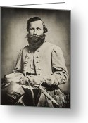 Impressions Greeting Cards - Confederate Jeb Stuart Greeting Card by Paul W Faust -  Impressions of Light