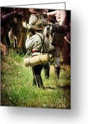 Confederates Greeting Cards - Confederate Soldiers Greeting Card by Stephanie Frey