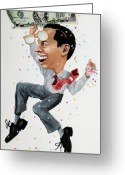 Jumping Greeting Cards - Confetti man Greeting Card by Denny Bond
